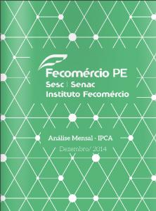 Fecomercio PE - IPCA 2014 12