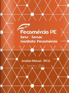 Fecomercio PE - IPCA 2016 01