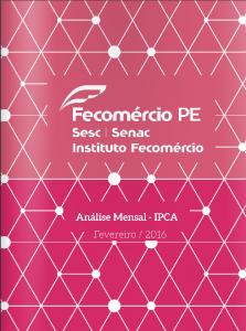Fecomercio PE - IPCA 2016 02