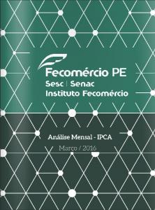 Fecomercio PE - IPCA 2016 03